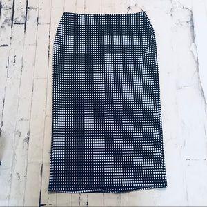 Old Navy Black & White Checkered Pencil Skirt